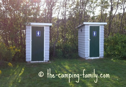 two outhouses