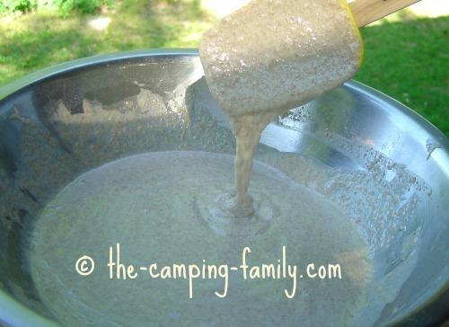 pancake batter in a bowl