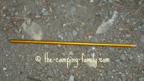 section of tent pole