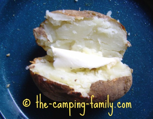 baked potato with butter
