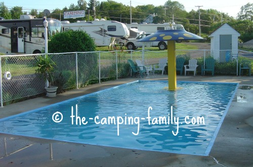 wading pool in campground