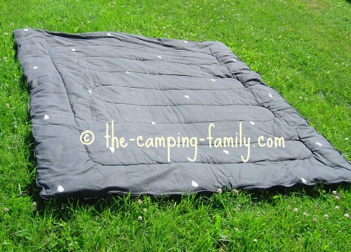 rectangular sleeping bag opened up