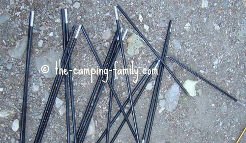 shock corded tent poles