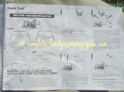 tent instructions