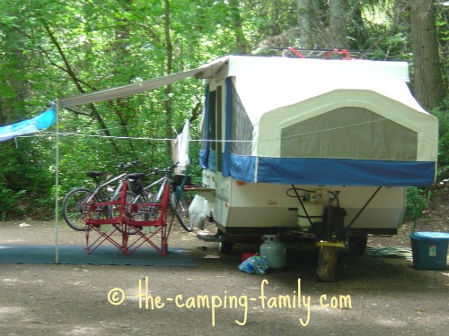 pop up tent camper with awning