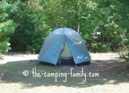 small blue tent
