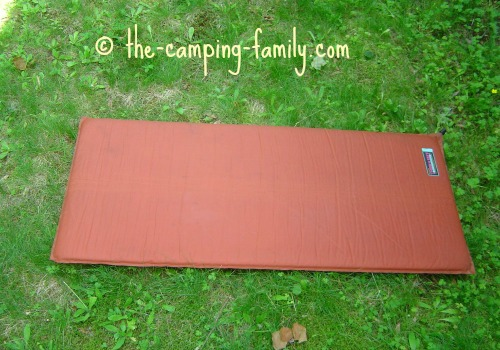 thermarest air mattress on the grass