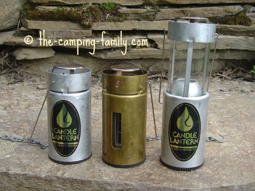 three candle lanterns