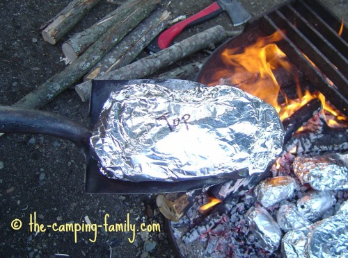 tin foil dinner on spade