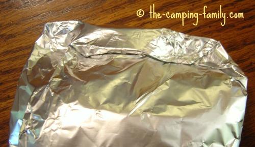 edges of foil packet
