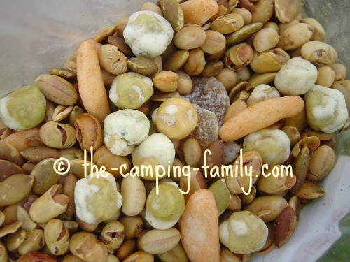 trail mix with wasabi peas