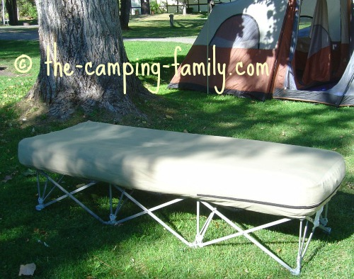 camping cot with inflatable mattress