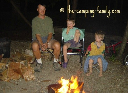 singing around the campfire