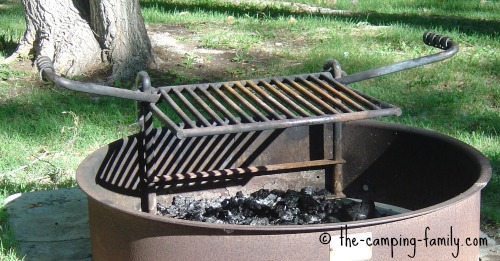campfire ring with grate