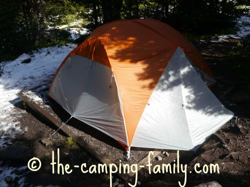 tent on tent pad