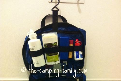 bathroom toiletries kit with hook