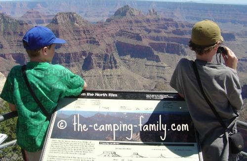 boys at Grand Canyon viewpoint