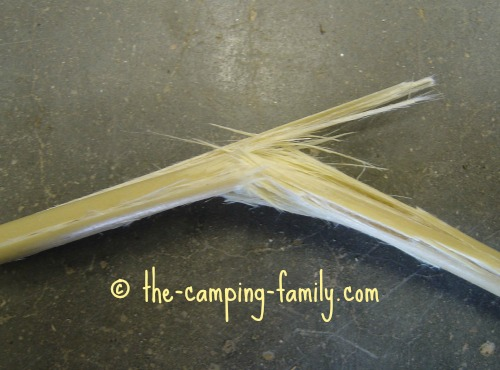 broken fiberglass tent pole