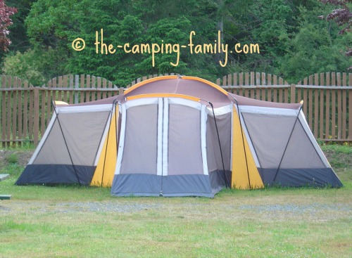 multi-room cabin style tent