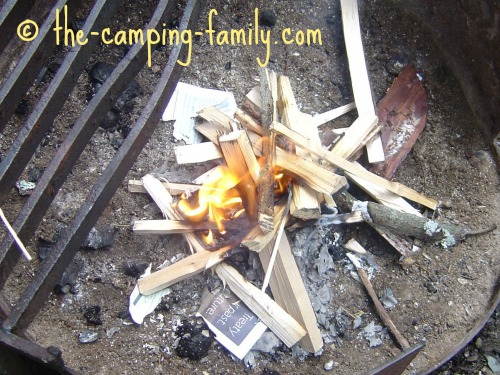 lighting the kindling