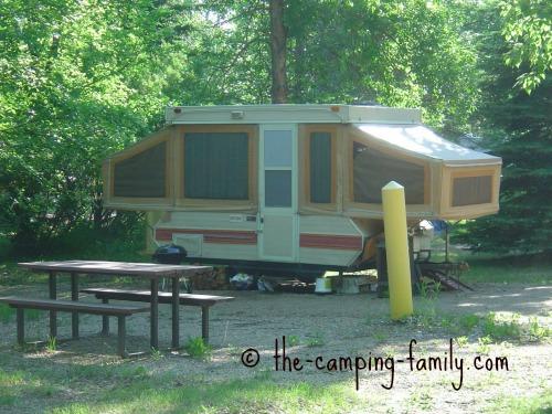 older canvas tent trailer