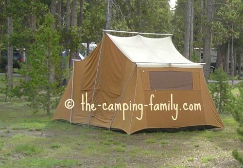 orange canvas tent