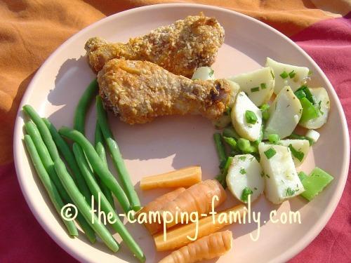 cold chicken picnic supper