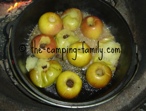 Baked Apples in a Dutch oven