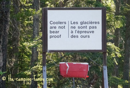 sign that says
