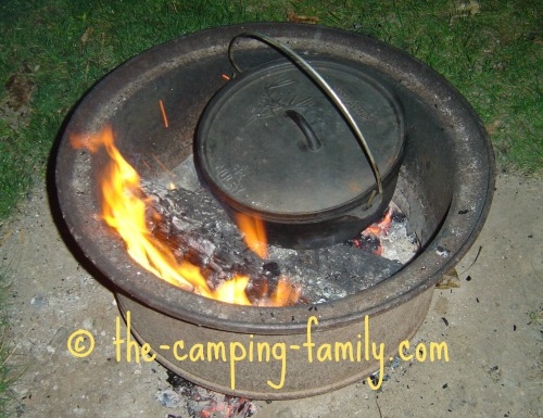 in the campfire pit