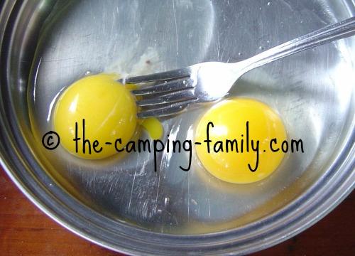 eggs in pan