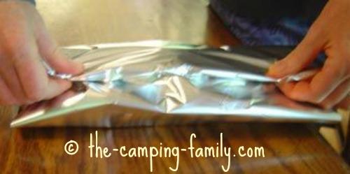 sealing foil packet