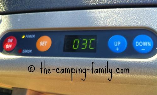 camping fridge digital display