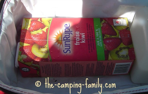 tetra juice container in soft cooler