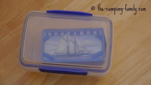matchbox in plastic container