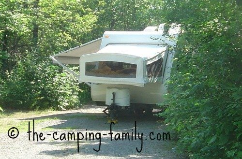 hybrid travel trailer with canopy
