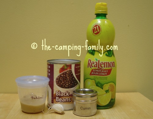 ingredients for Black Bean Hummus