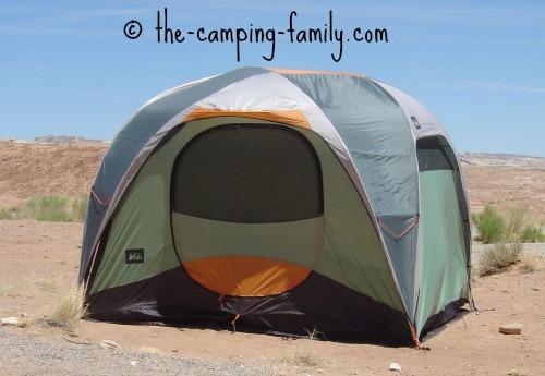 large family tent in desert