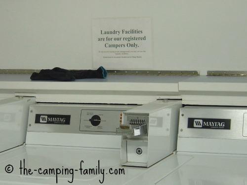 campground laundromat