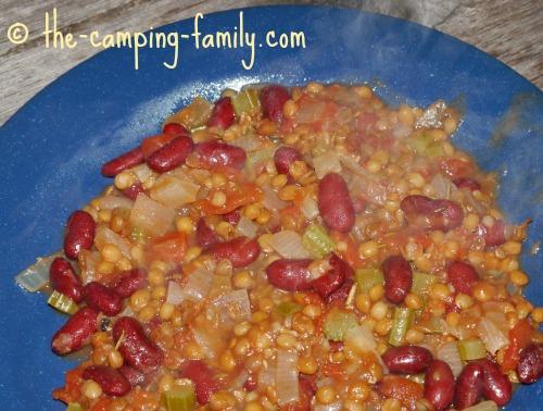 Lentil Skillet Supper on plate