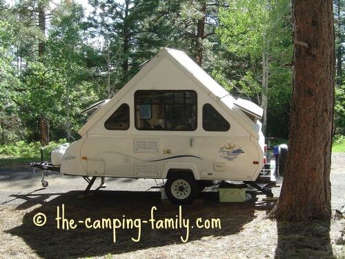 A frame pop up camper