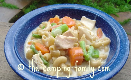 Pasta with Tuna and Veggies in a bowl