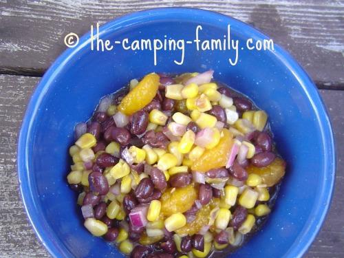 Mandarin Black Bean Salad in bowl