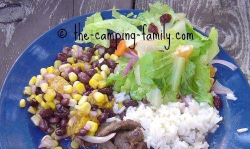 Mandarin Black Bean Salad as side dish