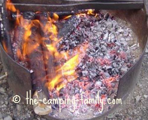 perfect campfire coals