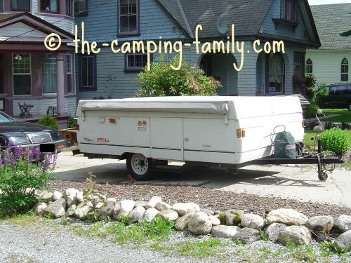 pop up tent camper folded
