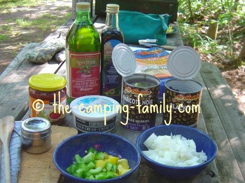 ingredients for Balsamic Black Beans