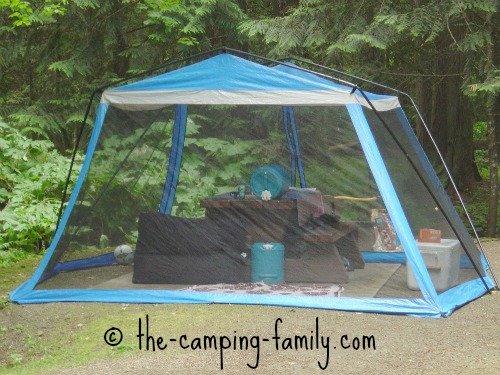 white screen tent