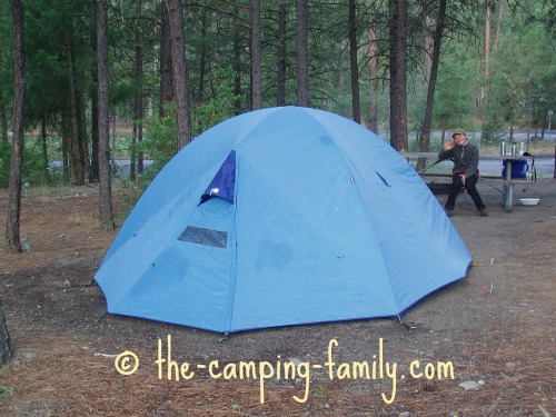 tent with full fly