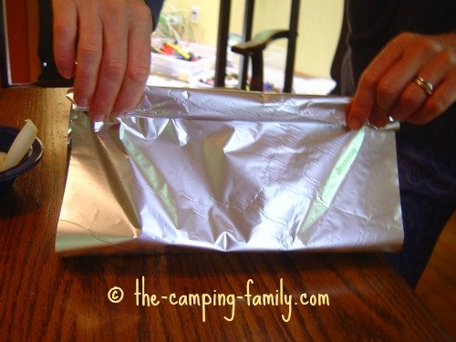making a foil packet